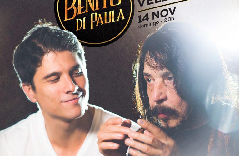 De volta aos palcos, Rodrigo Vellozo participa das comemorações de 80 anos de Benito Di Paula em show em São Paulo